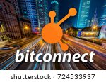 concept of  bitconnect   a... | Shutterstock . vector #724533937