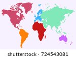 color world map | Shutterstock .eps vector #724543081