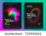electronic music festival... | Shutterstock .eps vector #724543261