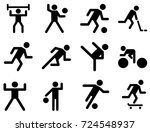 sport activity | Shutterstock .eps vector #724548937