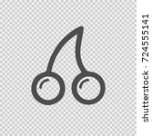 cherry vector icon eps 10.... | Shutterstock .eps vector #724555141