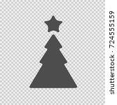 christmas tree vector icon eps... | Shutterstock .eps vector #724555159
