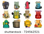 backpack rucksack travel... | Shutterstock .eps vector #724562521