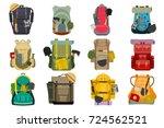backpack rucksack travel... | Shutterstock .eps vector #724562521
