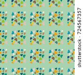 new color seamless pattern with ... | Shutterstock .eps vector #724567357