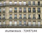 facade of a traditional living... | Shutterstock . vector #72457144