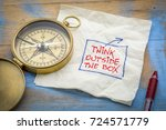 think outside the box   napkin... | Shutterstock . vector #724571779