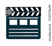 clapperboard cinema icon image | Shutterstock .eps vector #724575649