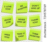 sticky note with text and... | Shutterstock .eps vector #724578769