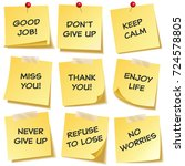 sticky note with text and...   Shutterstock .eps vector #724578805