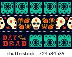 day of the dead traditional... | Shutterstock .eps vector #724584589