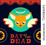 mexican day of the dead... | Shutterstock .eps vector #724584691