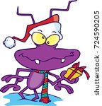 cartoon bug dressed up in a... | Shutterstock .eps vector #724590205