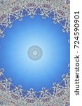 blue east ornament  islamic ... | Shutterstock . vector #724590901