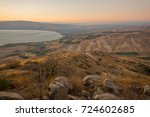 view of the golan heights with... | Shutterstock . vector #724602685