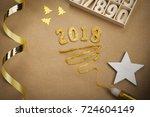 2018 new year   Shutterstock . vector #724604149