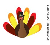 isolated turkey icon on a white ... | Shutterstock .eps vector #724604845