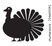 isolated turkey icon on a white ... | Shutterstock .eps vector #724605391