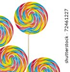 Rainbow Lollipop Background On...