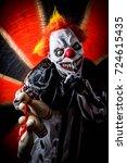 horror scary killer circus... | Shutterstock . vector #724615435