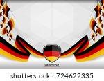 flag of germany background for... | Shutterstock .eps vector #724622335