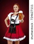 bavarian people  | Shutterstock . vector #724627111