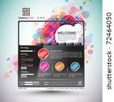 vector website design template   Shutterstock .eps vector #72464050
