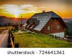 sunrise on mountain zlatar in...   Shutterstock . vector #724641361