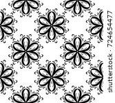 black flowers on white... | Shutterstock .eps vector #724654477