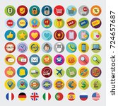 shopping icons. web sign and...   Shutterstock .eps vector #724657687