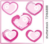 cute doodles hearts set . jpg | Shutterstock . vector #72466888