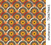 new color seamless pattern with ... | Shutterstock .eps vector #724674661