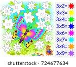 worksheet with exercises for... | Shutterstock .eps vector #724677634