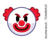 vector cartoon clown emoji... | Shutterstock .eps vector #724680415