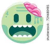 vector cartoon zombie emoji... | Shutterstock .eps vector #724680481