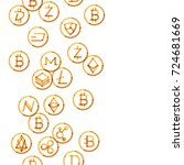 popular cryptocurrencies... | Shutterstock .eps vector #724681669