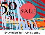 sale advertisement banner with...   Shutterstock .eps vector #724681867