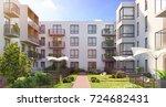 modern residential complex for...   Shutterstock . vector #724682431