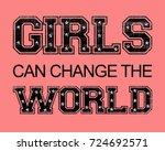 slogan graphic for t shirt | Shutterstock . vector #724692571