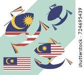 kite flying with the flag of...   Shutterstock .eps vector #724695439