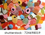 candy in different shapes ... | Shutterstock . vector #724698019