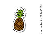 pineapple doodle icon | Shutterstock .eps vector #724699255