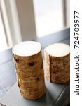 cozy log candles at a resort... | Shutterstock . vector #724703977