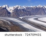 kaskawulsh glacier in kluane... | Shutterstock . vector #724709431