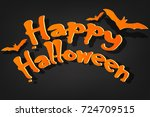 happy halloween greeting word... | Shutterstock .eps vector #724709515
