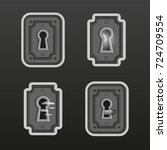 vector pack with keyholes and a ... | Shutterstock .eps vector #724709554