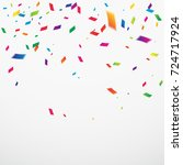 many falling colorful confetti. ...   Shutterstock .eps vector #724717924