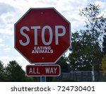 Red Stop Sign With A Vegan Or...