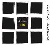 set of empty scribble square... | Shutterstock .eps vector #724735795