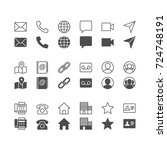 contact icons  included normal... | Shutterstock .eps vector #724748191